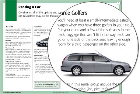 Ireland Golf Adventure Guide Car Rental